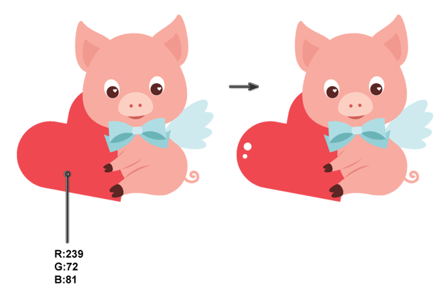 adding the heart