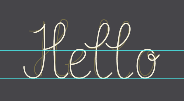 outlining hello word