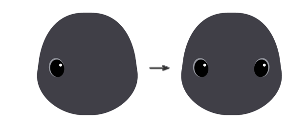 placing the eye and creating another one