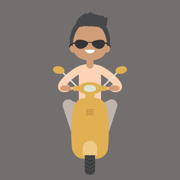 Boy and Scooter Vector Illustration Adobe Illustrator Tutorial