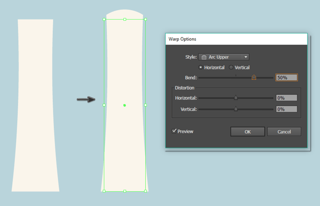 creating the toothpaste tube shape 2