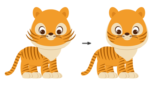 placing the stripes on the face