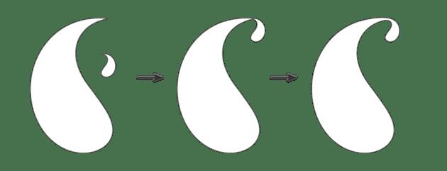 creating the main paisley shape 3