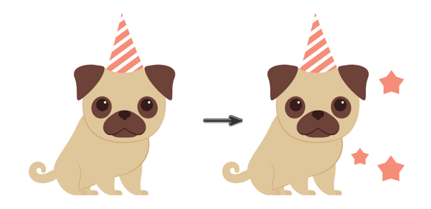 placing the party hat