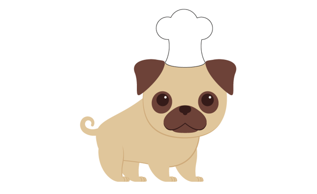 placing the chef hat