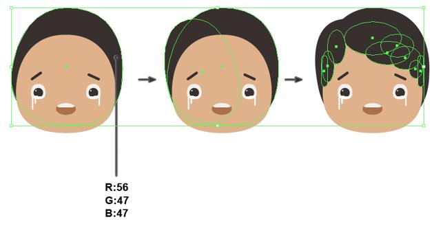 creating the hair