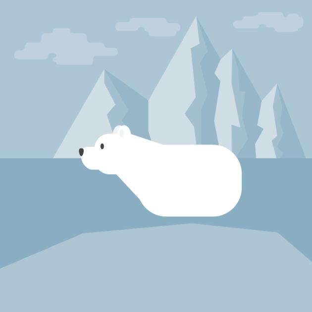 placing the nose of the polar bear