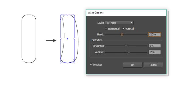 creating the leg of the polar bear