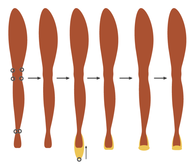 how to make the leg more realistic