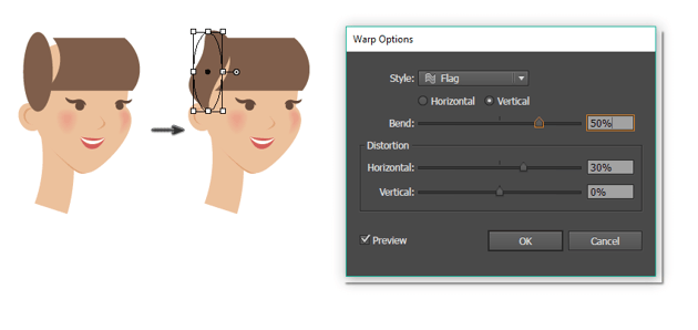 how to create the side hair