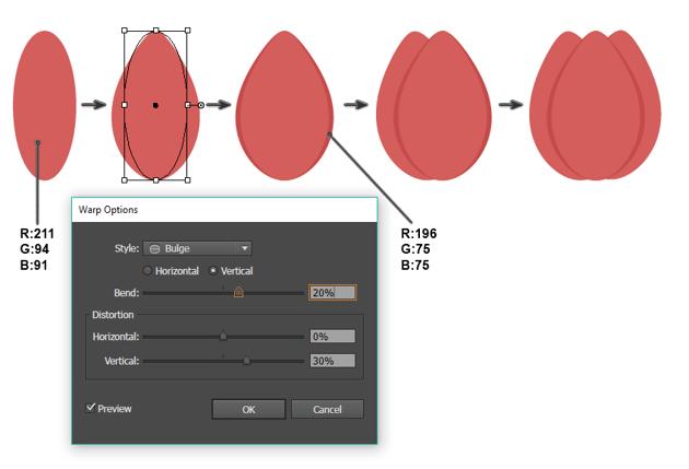 how to create the tulip bud