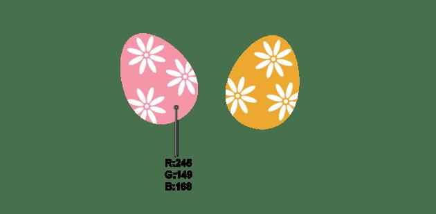 flowered eggs