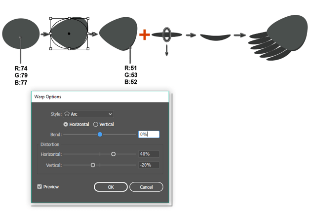 how to create the wing