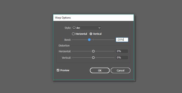 Arc Effect options window