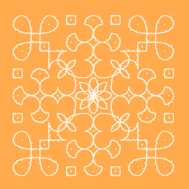 how the completed kolam pattern should look