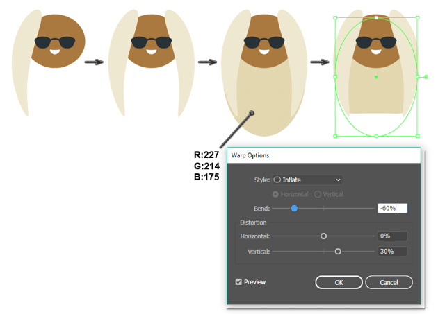 how to create the front and back hair
