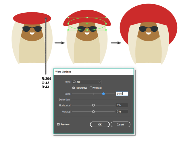 how to create the hat