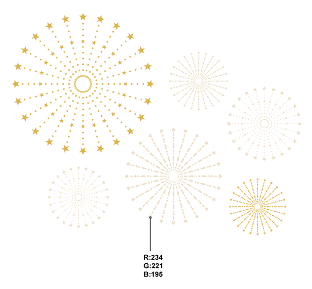 different colors fireworks