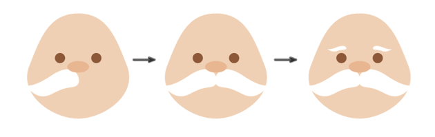 how to place the mustaches