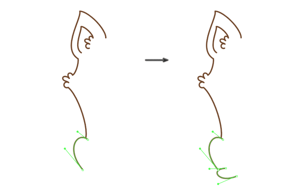 how to draw the left hind leg
