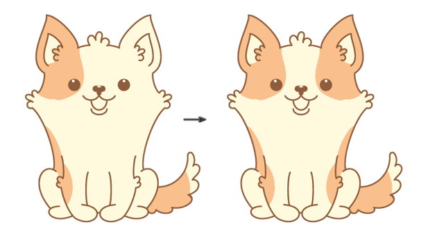 how to color the welsh corgi stains