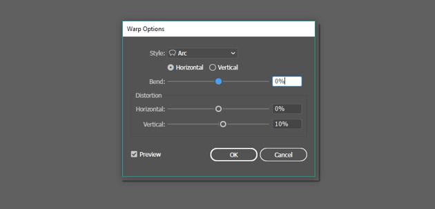 Arc effect options