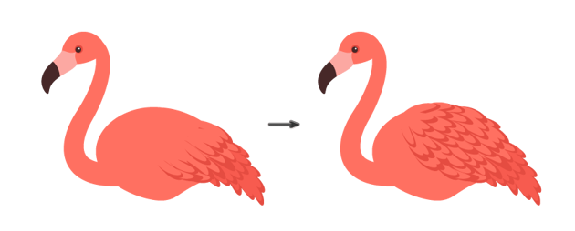 how to draw the wing using the custom made art brush