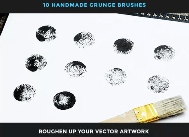 10 handmade grunge brushes