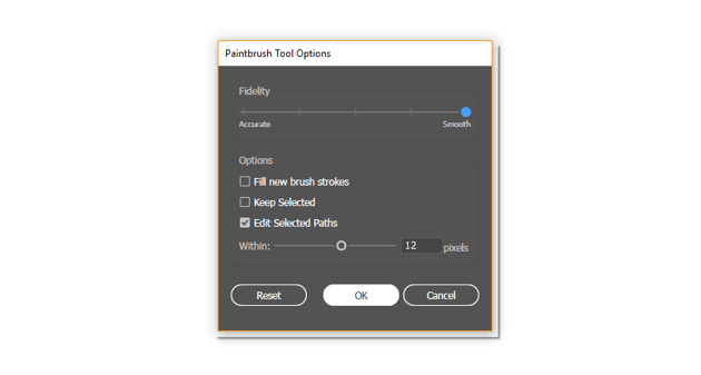 how to make settings for the Paintbrush Tool
