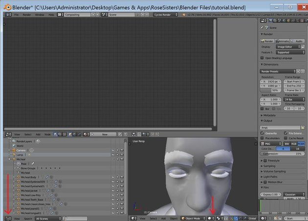 Setting up Compositing View