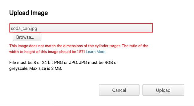 Cylinder ratio error