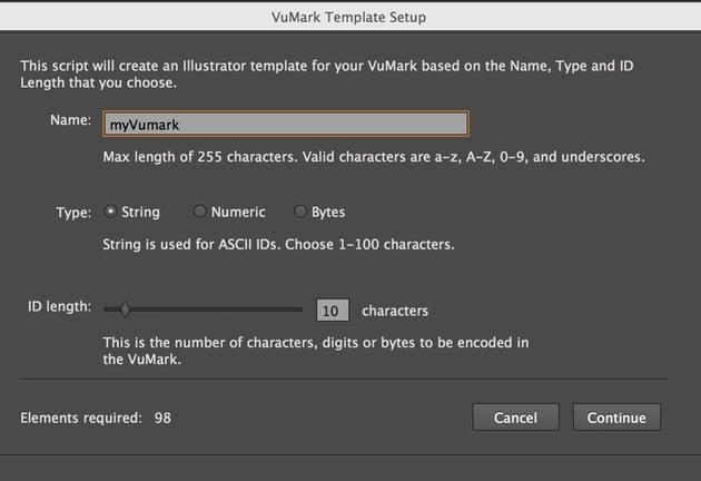 VuMark Template Design Window