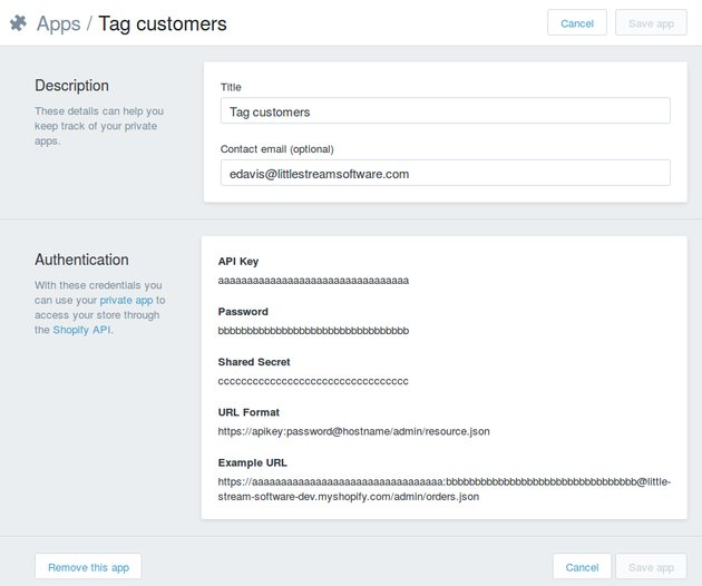 Setting up the Shopify app