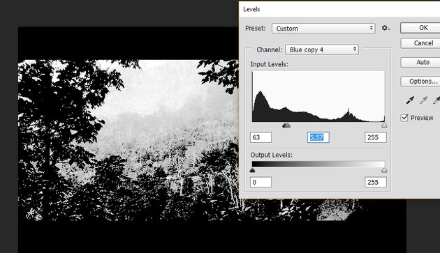 Using levels and channels to create selection