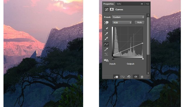 Lowering brightness of the selected image