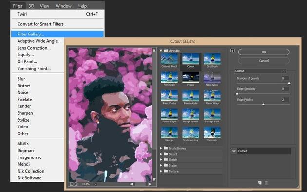 Creating cutout effect