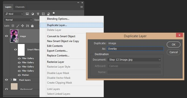 Creating duplicate of the smart object