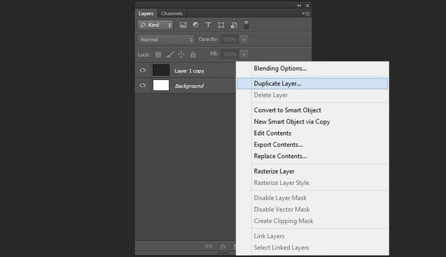 Creation of layers duplicate