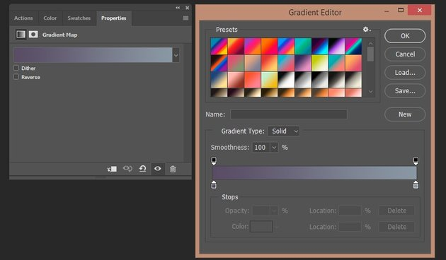 Creating gradient map layer