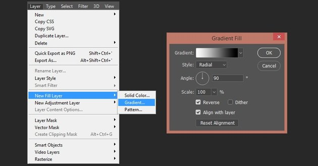 Creating gradient fill layer