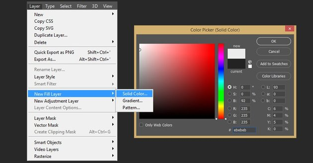 Creating background fill layer
