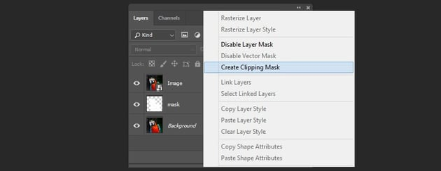 Creating a clipping mask of the layer