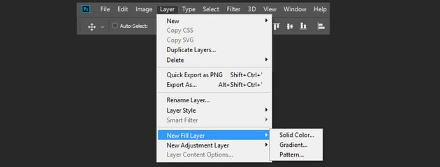 creating the gradient fill layers