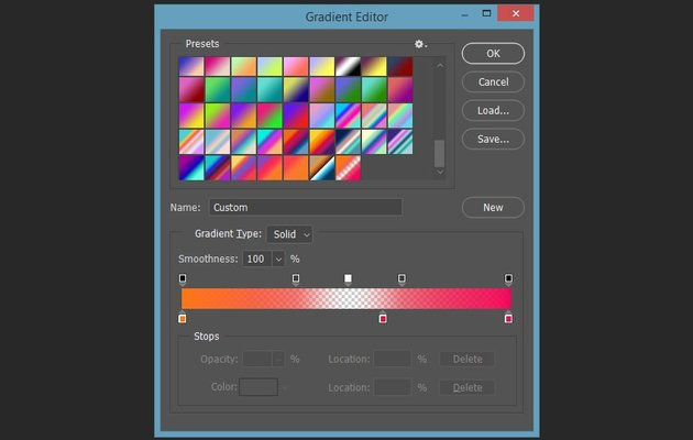 Setting up the colors of the first gradient