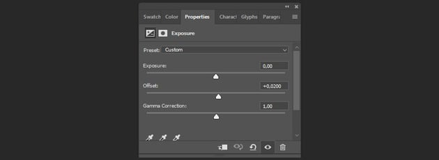 creating the exposure adjustment layer