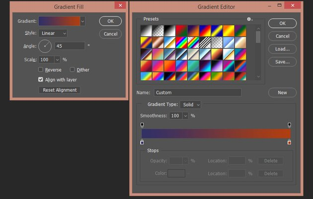 creating the last gradient fill layer