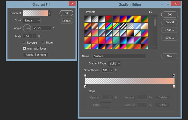 creating colors for second gradient fill