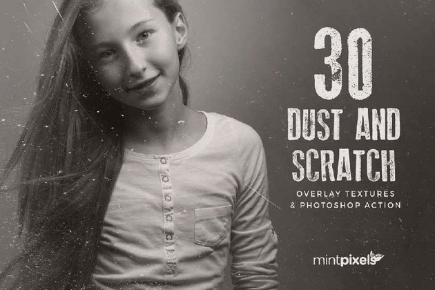 30 Dust Scratch Overlay Textures