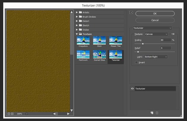 adding a texturezi filter to the layer in photoshop