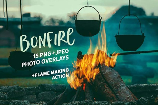 15 bonfire photo overlays